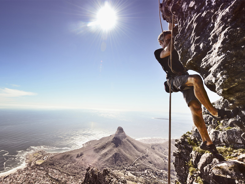Abseiling Table Mountain
